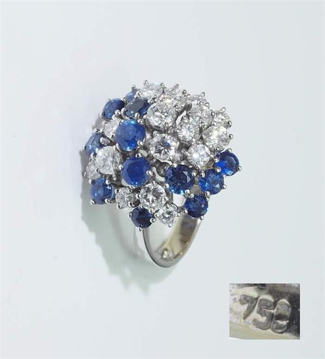 Brillant-Saphir Ring.