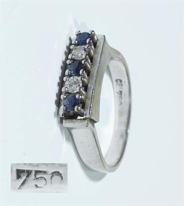 Brillant-Saphir-Ring.