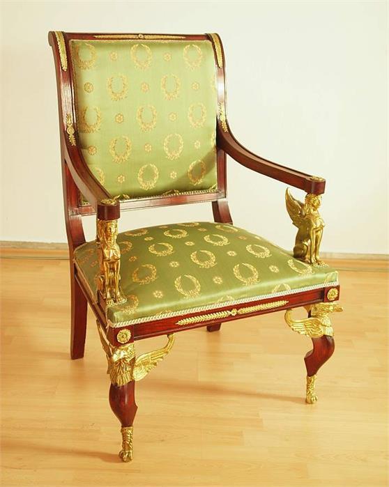 armlehnstuhl im empire stil objektdetail ruetten. Black Bedroom Furniture Sets. Home Design Ideas
