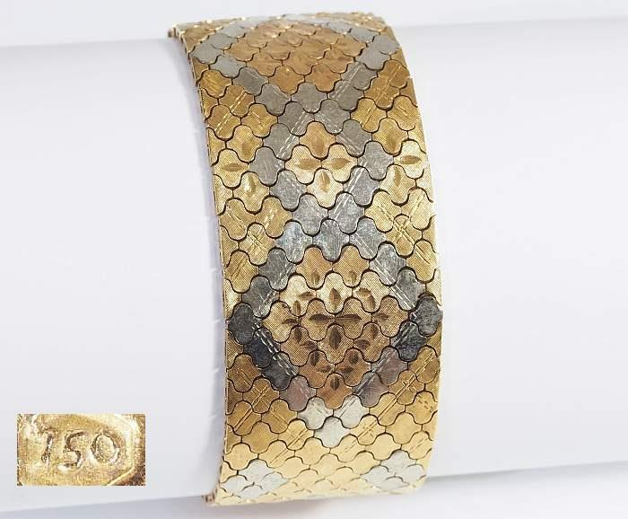 Dekoratives Armband,  750er Gold.