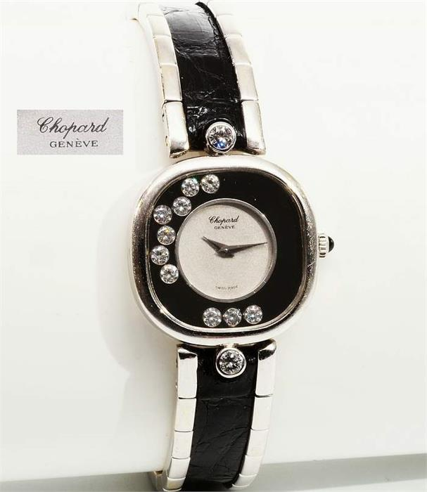 CHOPARD Damenarmbanduhr. Serie Happy Diamond. Made in Swiss.