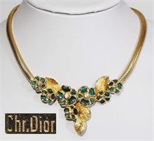 "Collier '""Dior"", Metall vergoldet."
