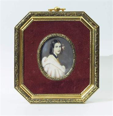 "Elfenbein-Miniatur.  ""Lady Jane Erskine ELLENBOROUGH"""